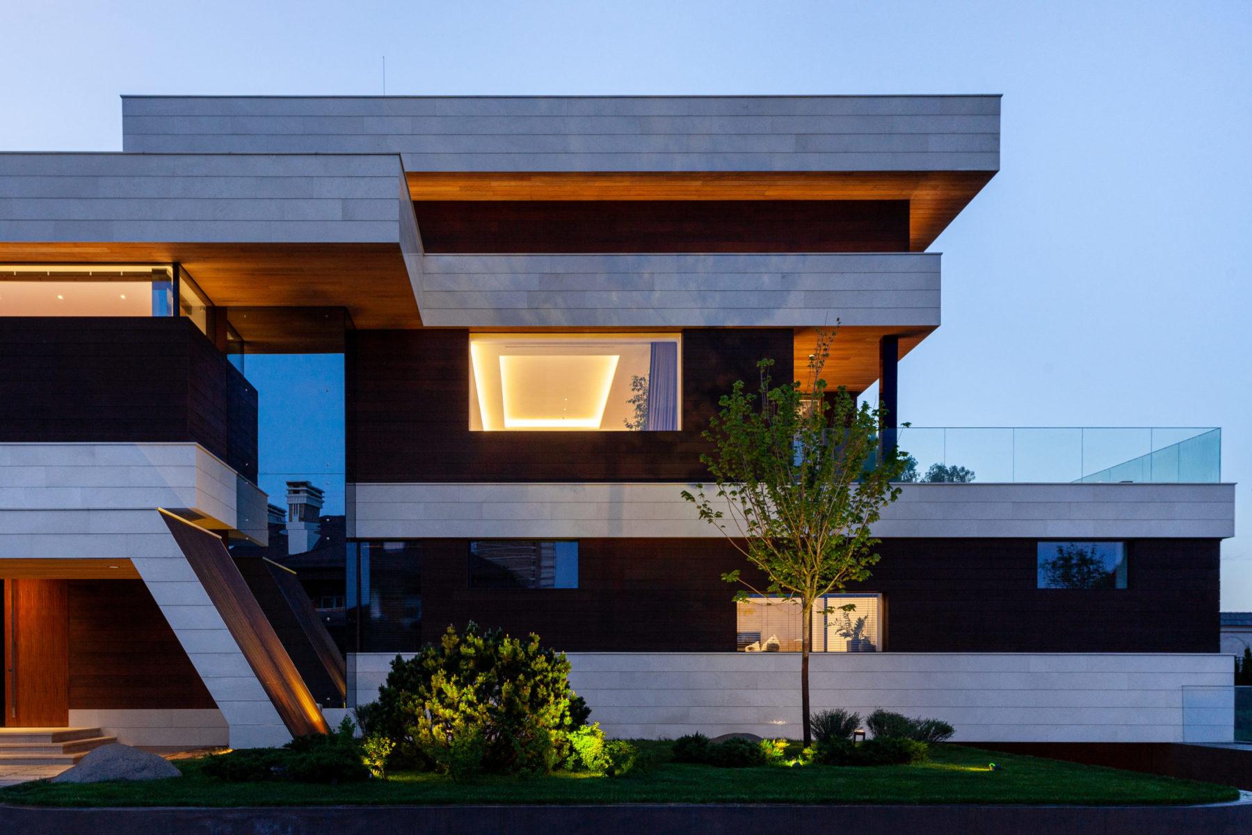 Минимализм в архитектуре загородного дома