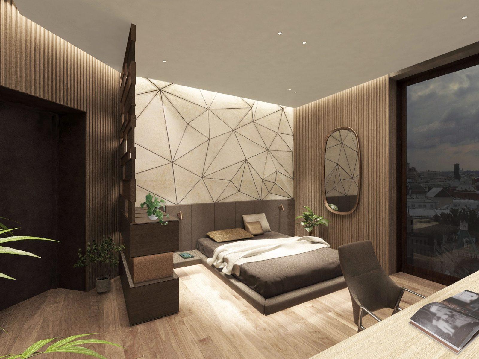 Спальня в стиле хайтек фото в интерьере