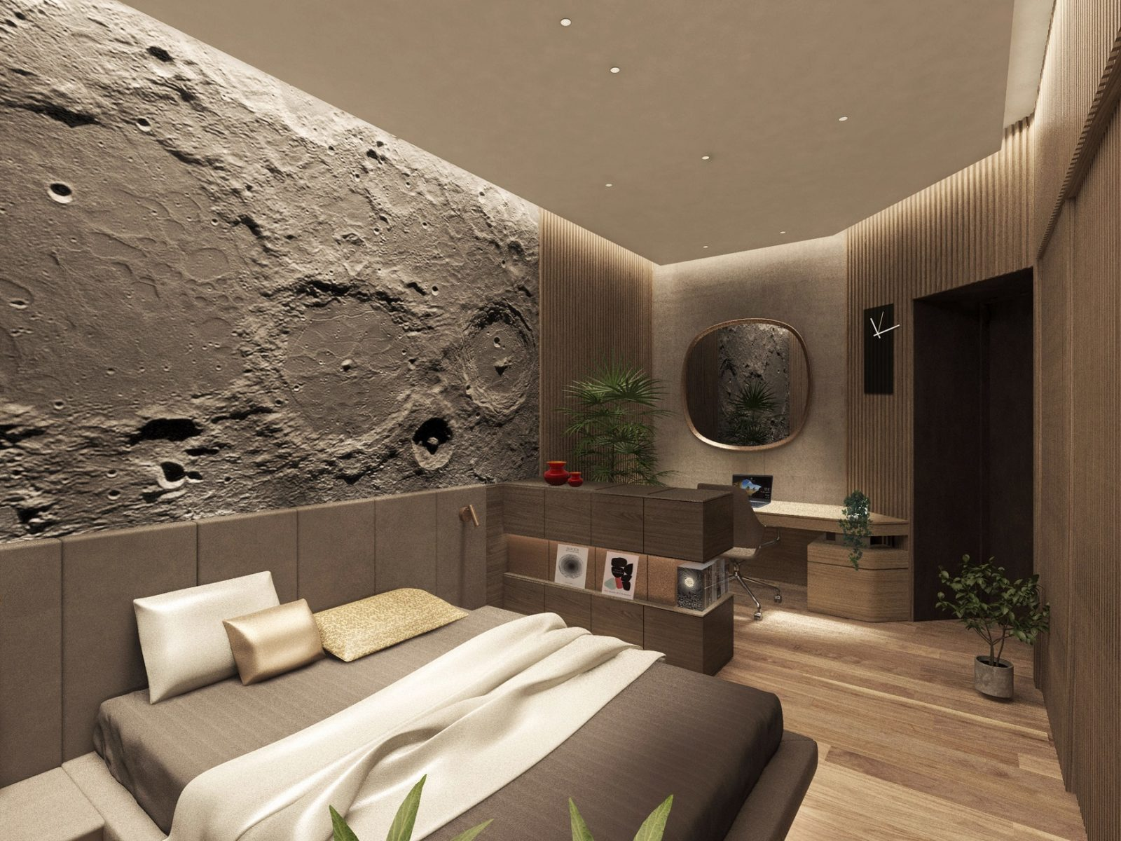 Спальня хайтек интерьер