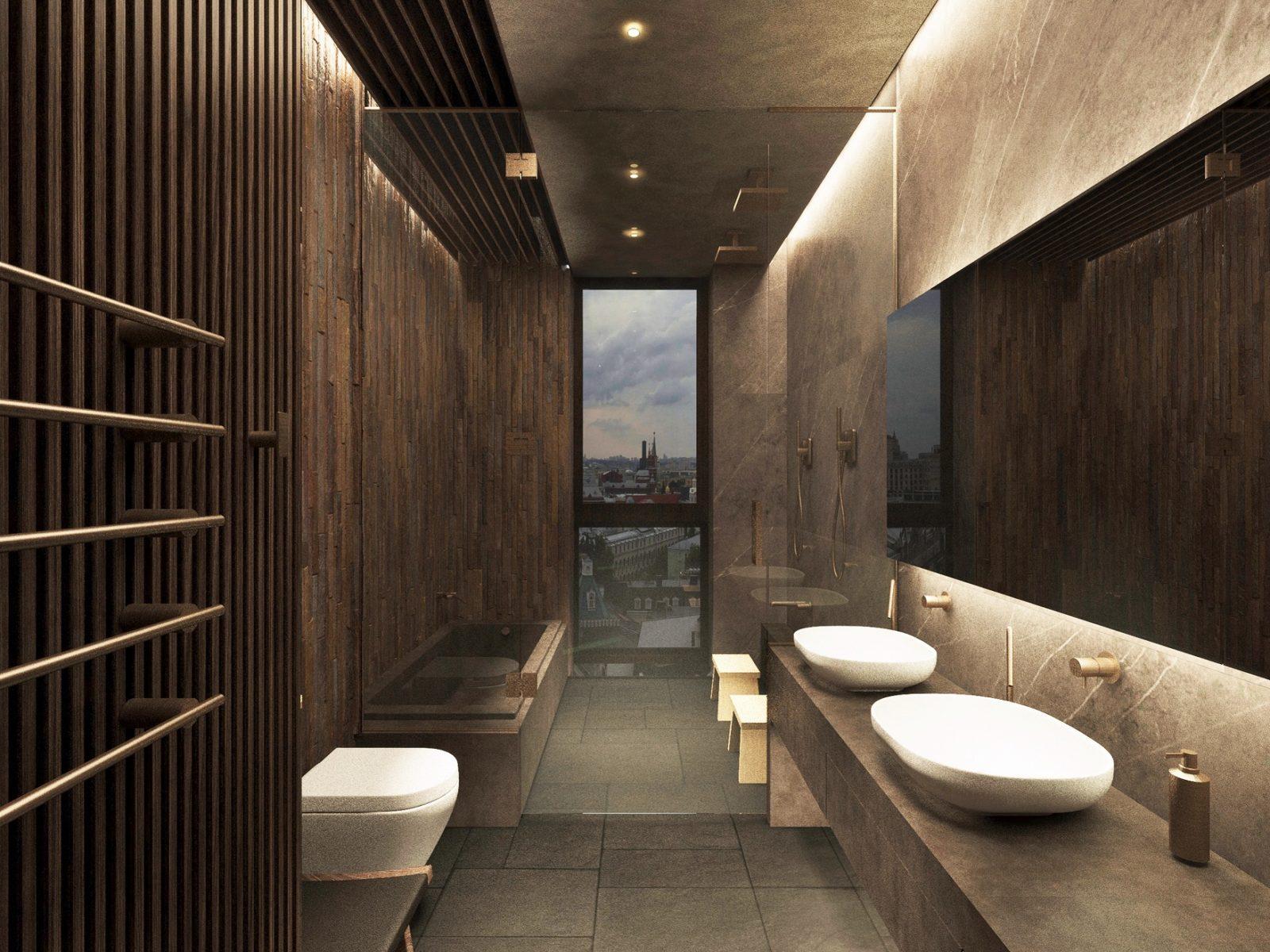 Ванная комната стиль хайтек