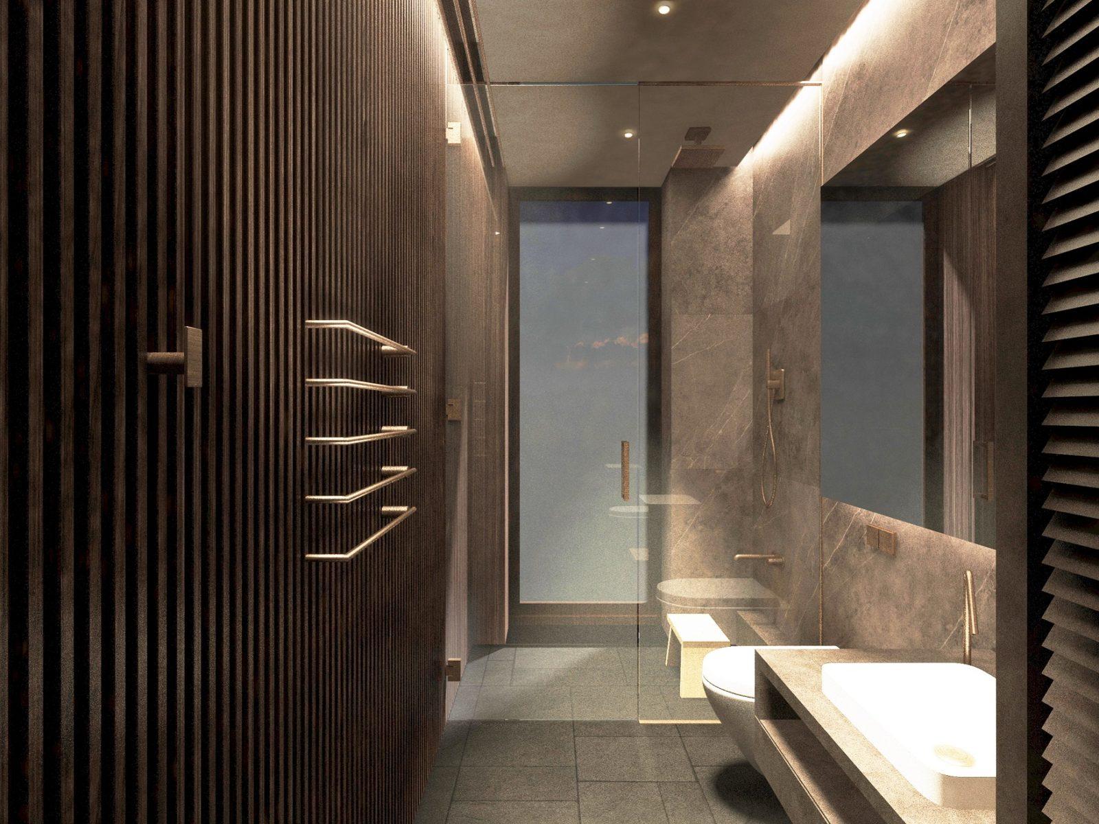 Ванная комната хайтек