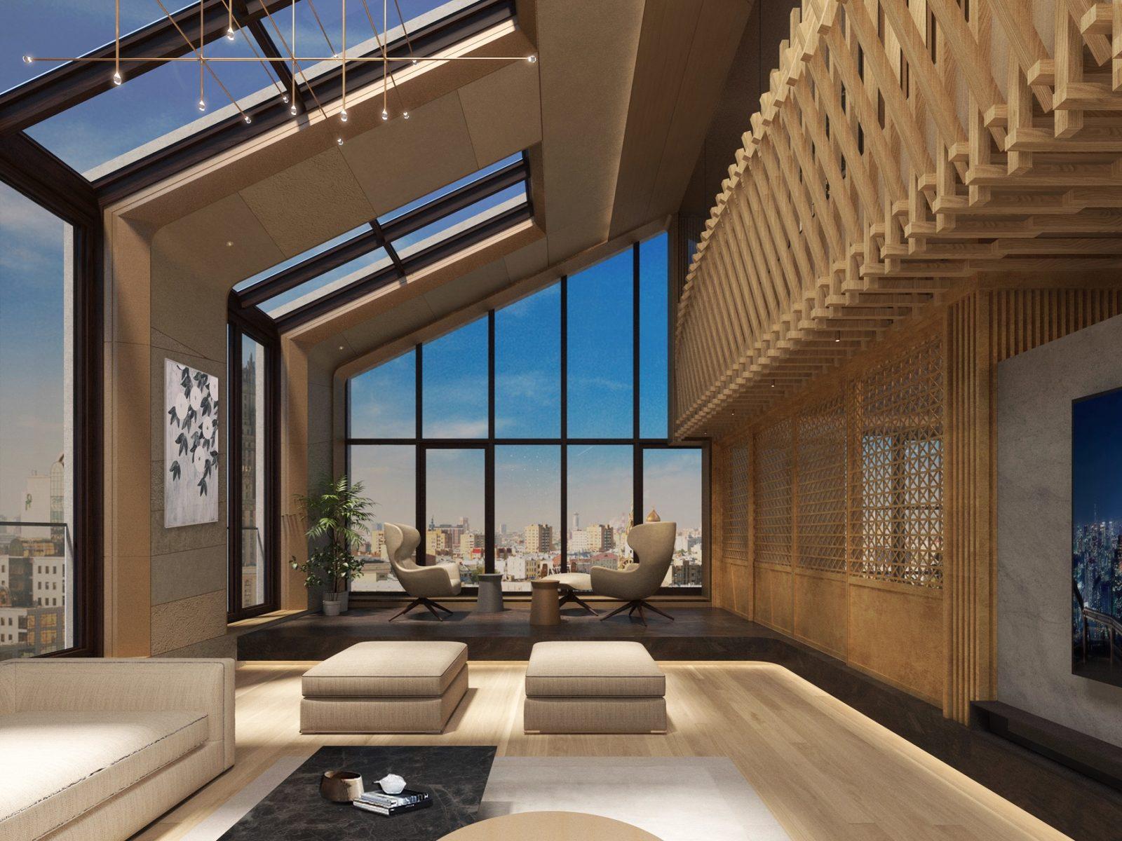Пентхаус в японском стиле