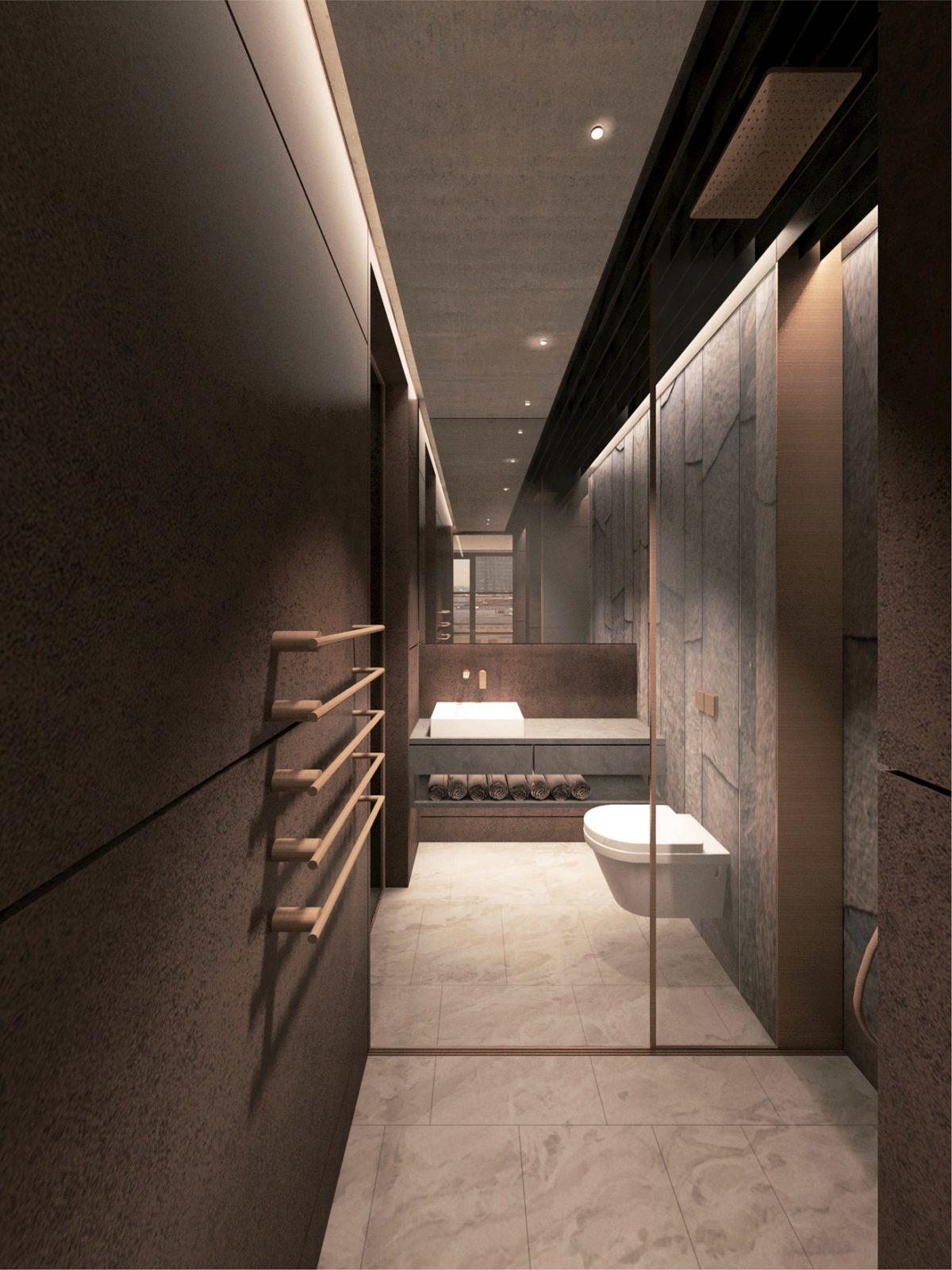 Туалет минимализм